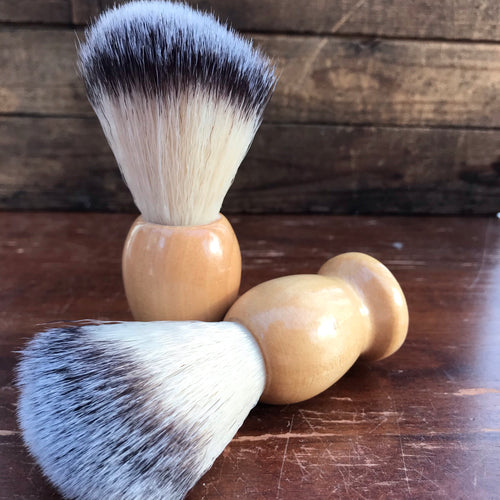 Shave Brush - 100% Pure Badger with Wooden Handle