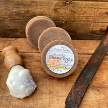 Load image into Gallery viewer, Old Fashioned Dual Lye Shave Soap - Frankincense & Myrrh - 3oz