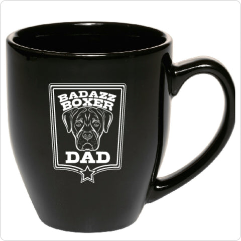 Badazz Boxer Dad Coffee Mug - DAKOTA DOG COMPANY
