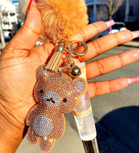 Load image into Gallery viewer, Teddybear lipgloss keychains