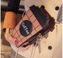 Load image into Gallery viewer, Coffee cup crossbody bag