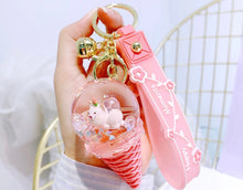Load image into Gallery viewer, Floating Crystal Ice Cream Keychain