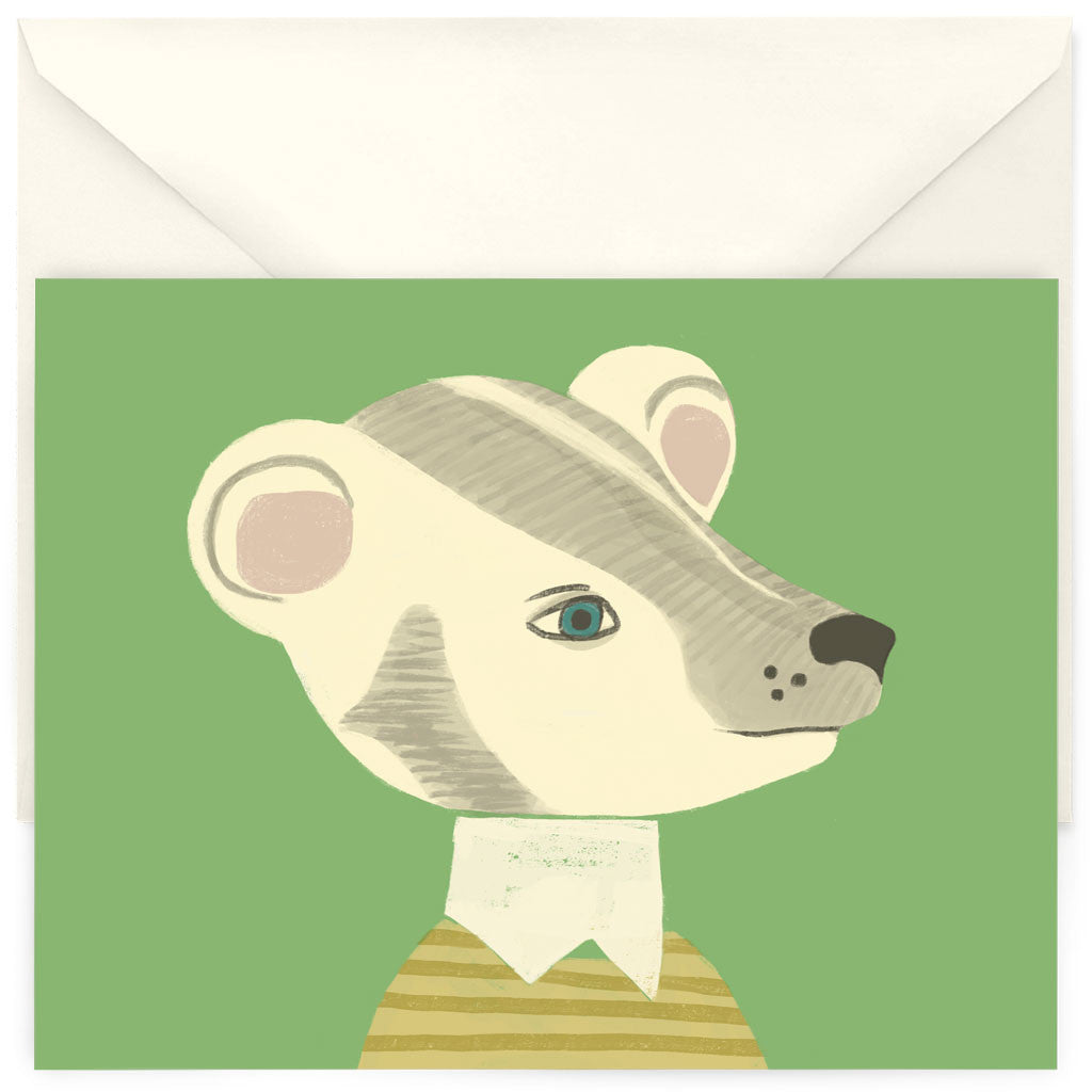 <em>Preppy badger</em> card