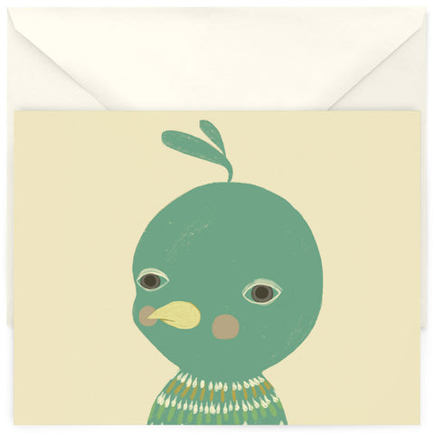 <em>Unimpressed bird</em> card
