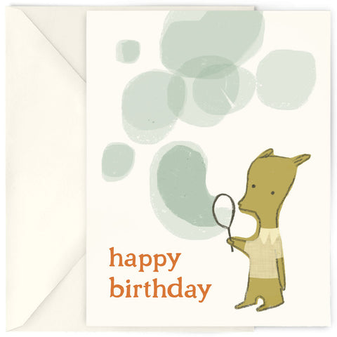 <em>Birthday bubbles</em> card