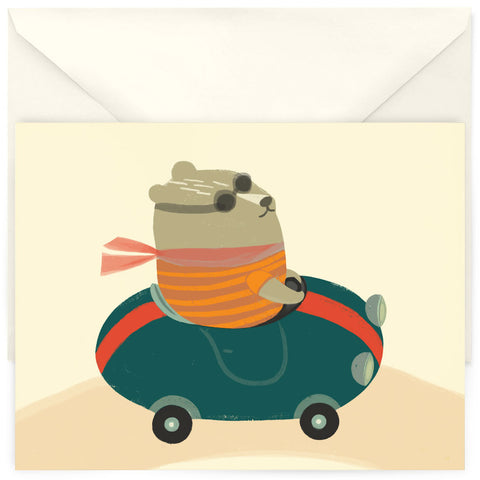 <em>Driving bear</em> card