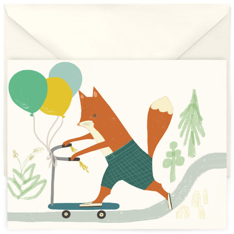 <em>Scooter fox</em> card