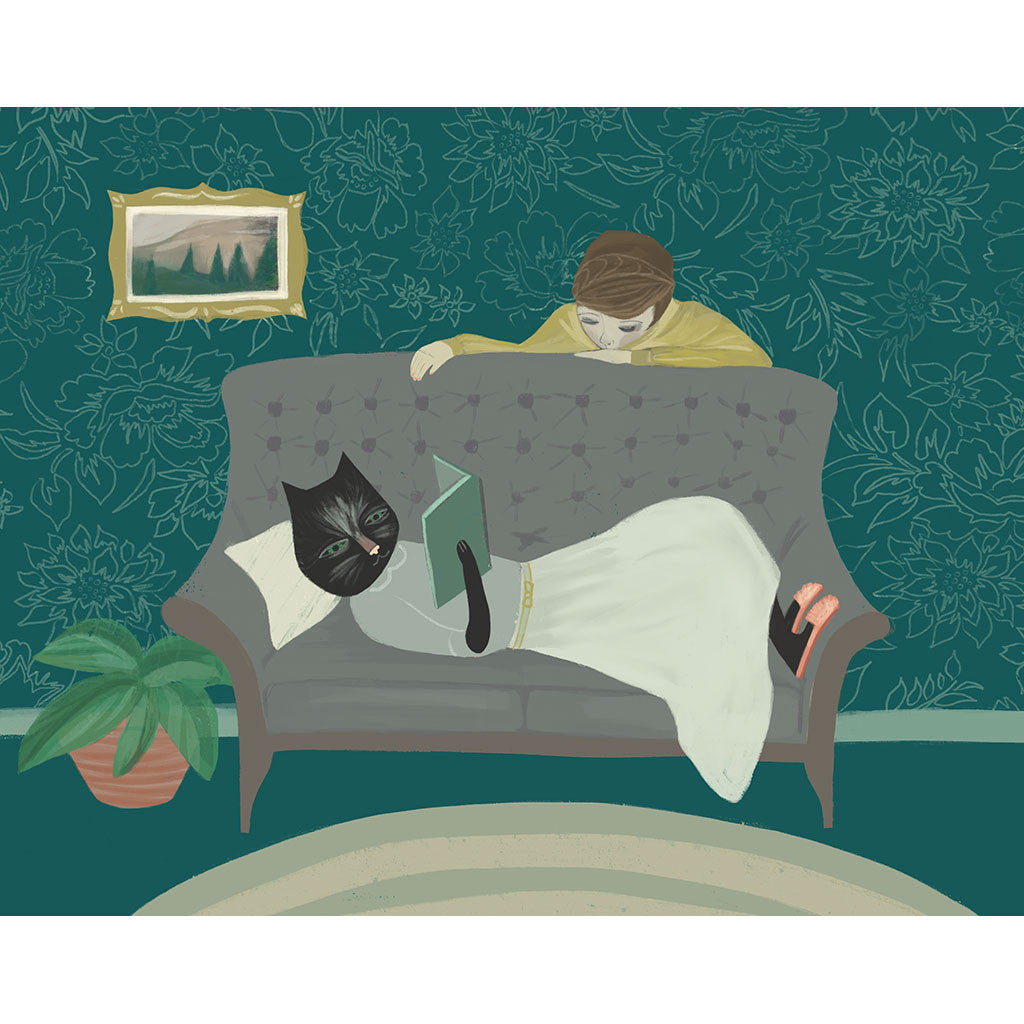 <em>Lounging cat</em> art print