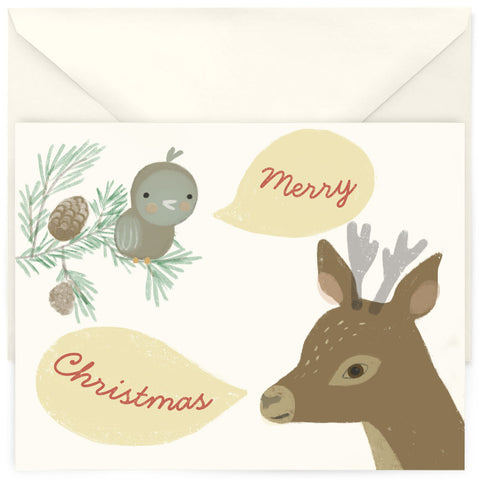 <em>Bird & Deer's Christmas</em> card