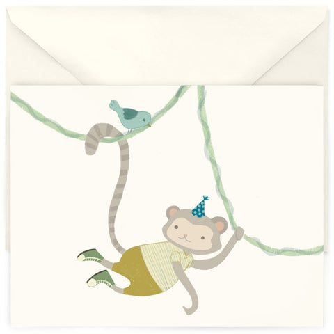 <em>Swinging monkey</em> card