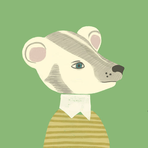 <em>Preppy badger</em> art print