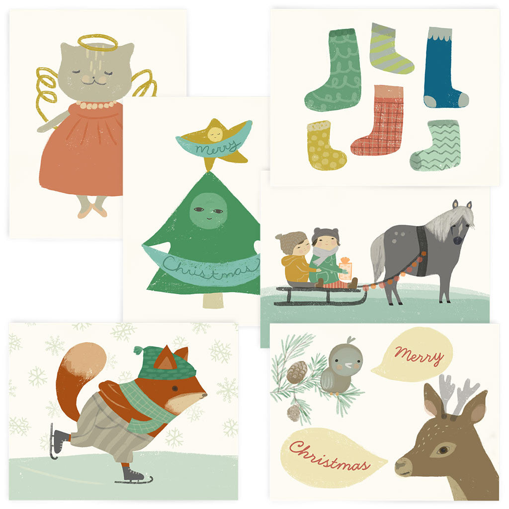 <em>Christmas</em> 6-card set