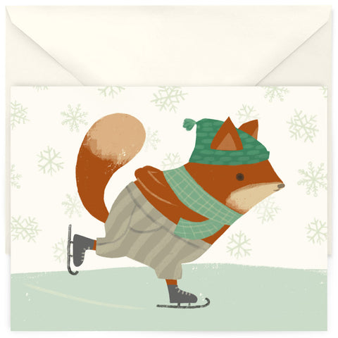 <em>Skating fox</em> card