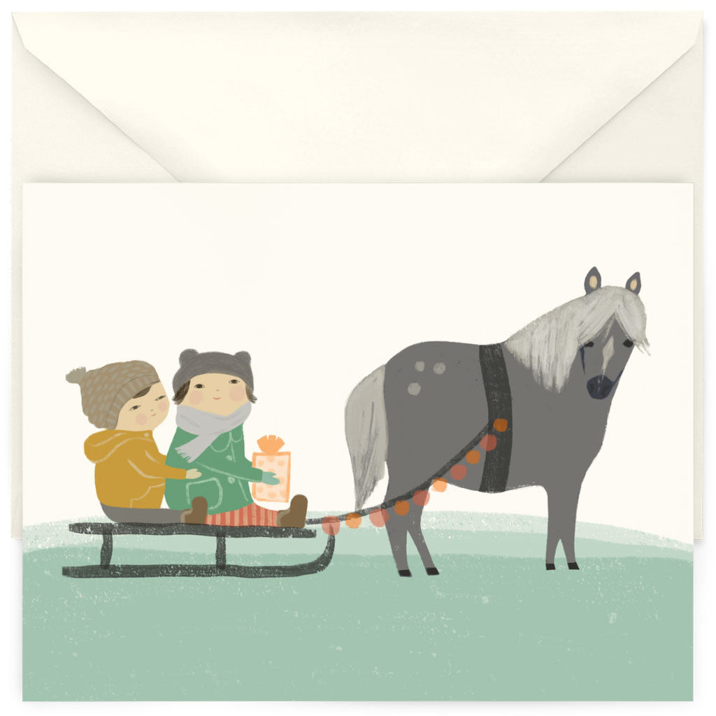<em>Sleigh ride</em> card