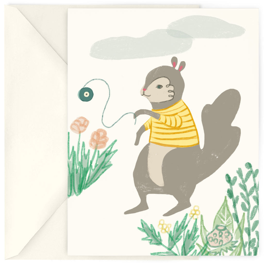 <em>Yo-yo squirrel</em> card