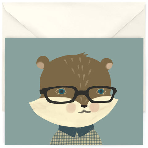 <em>Hipster squirrel</em> card