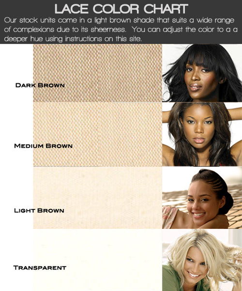 Lace Color Chart Gracelacewigs