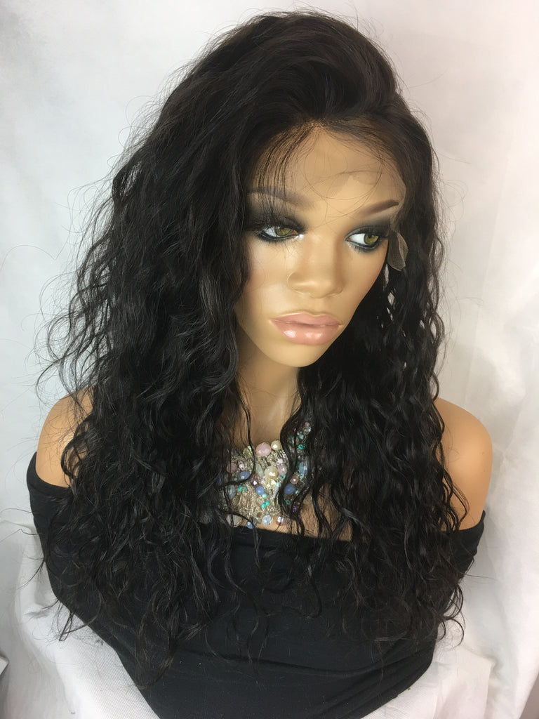 Clearance Full Lace Wig: Elizabeth Indian Remy DUO Texture Yaki and Loose Curly