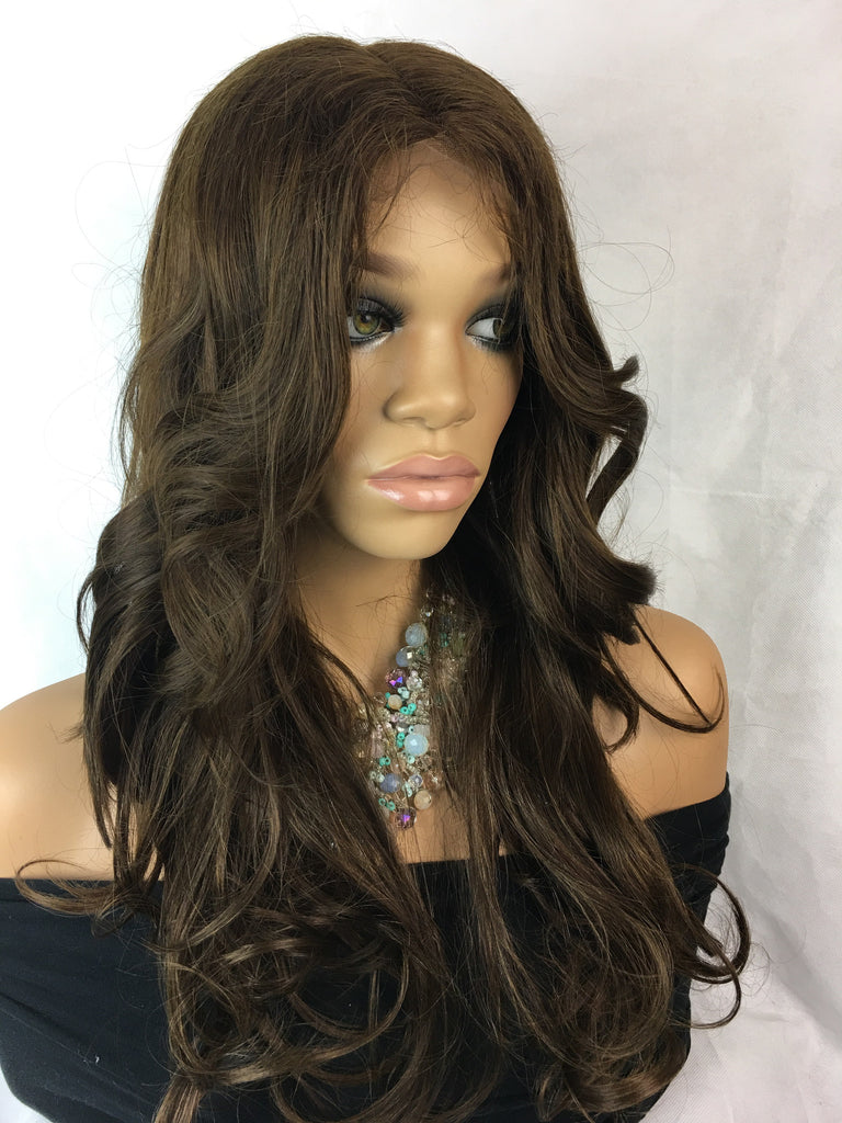 "Clearance Full Lace Wig: Helena Small, 22"", color 4"