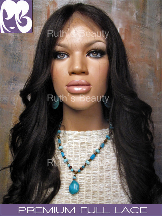 FULL LACE WIG: Kim Kardashian- Professionally Cut Light Yaki Indian Remy