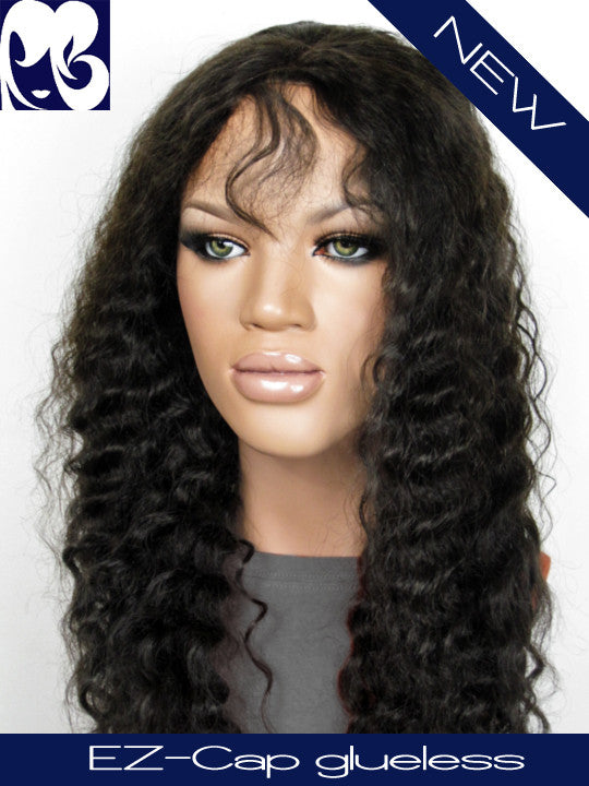 Spanish Wave Glueless Indian Remy EZ-cap Full Lace Wig