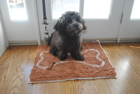 "Small Doormat 18x24"": Caramel Brown with Oatmeal Bone"