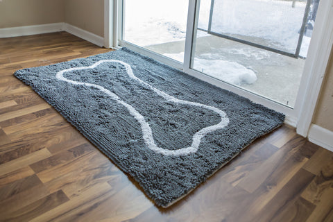 Extra-Large Grey Bone Absorbent Doormat