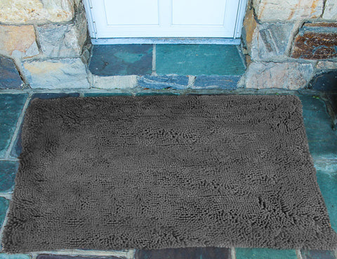 Plain Grey Absorbent Doormat in Large and Extra-Large