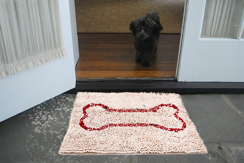 Small Beige Bone Absorbent Doormat