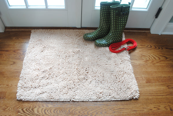 Plain Beige Absorbent Doormat In Large and Extra-Large