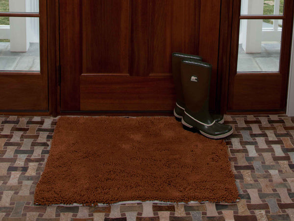 Plain Caramel Absorbent Doormat in Large and Extra-Large