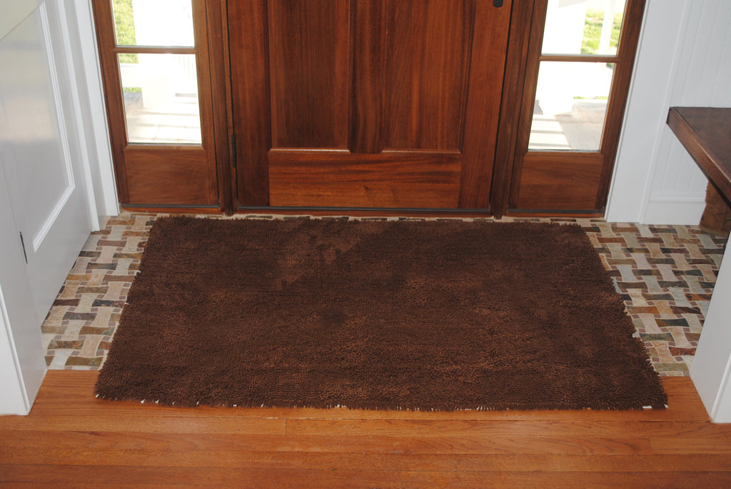 """No Bone"" Doormats: Large & XL Dark Chocolate"