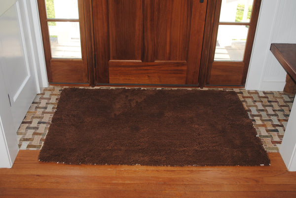 Plain Chocolate Absorbent Doormat in Large and Extra-Large
