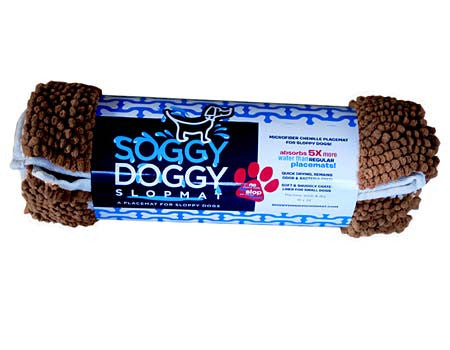 Soggy Doggy Slopmat: Dark Chocolate with Oatmeal Bone