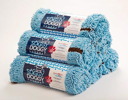 Large Absorbent Doormat In Baby Blue Shop Now Soggy