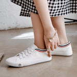 Comfy Lace-Up Canvas Shoes Casual Athletic All Season Sneakers