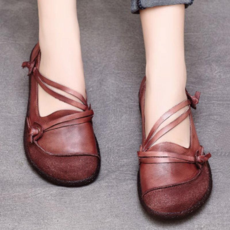 Daily Faux Leather Flats