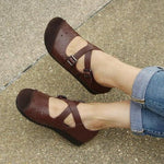 Hollow Color-block Flats Loafers