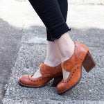 Faux Leather All Season Chunky Heel Other Shoes