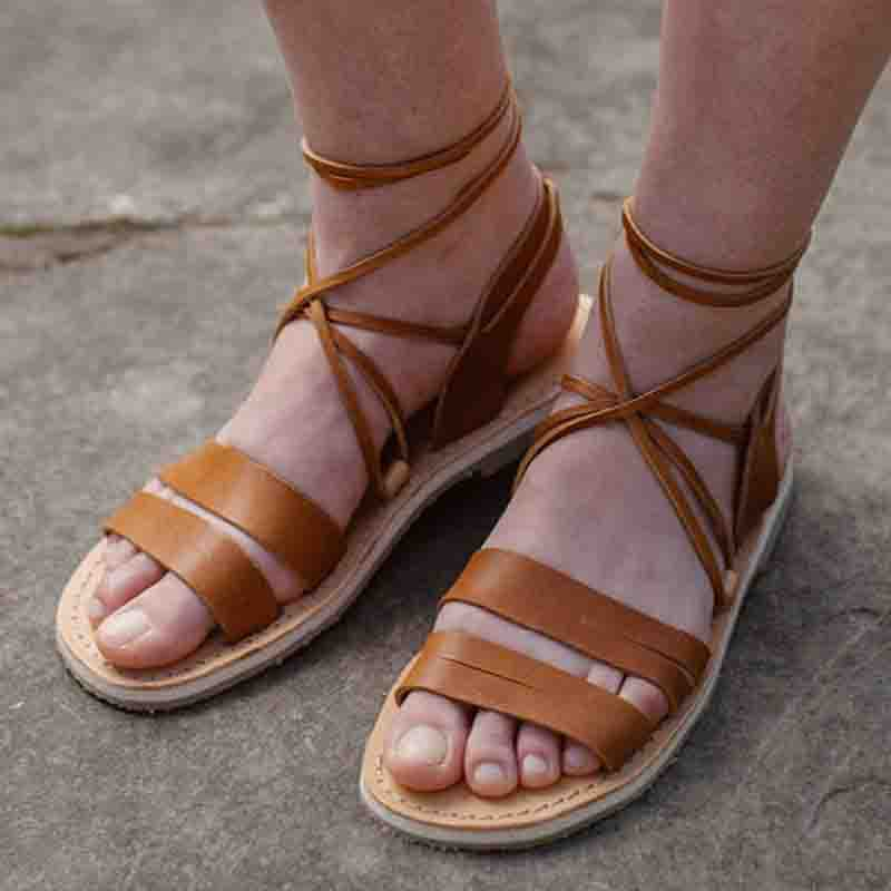 f318d90f8ce99 Summer Gladiator Flat Sandals
