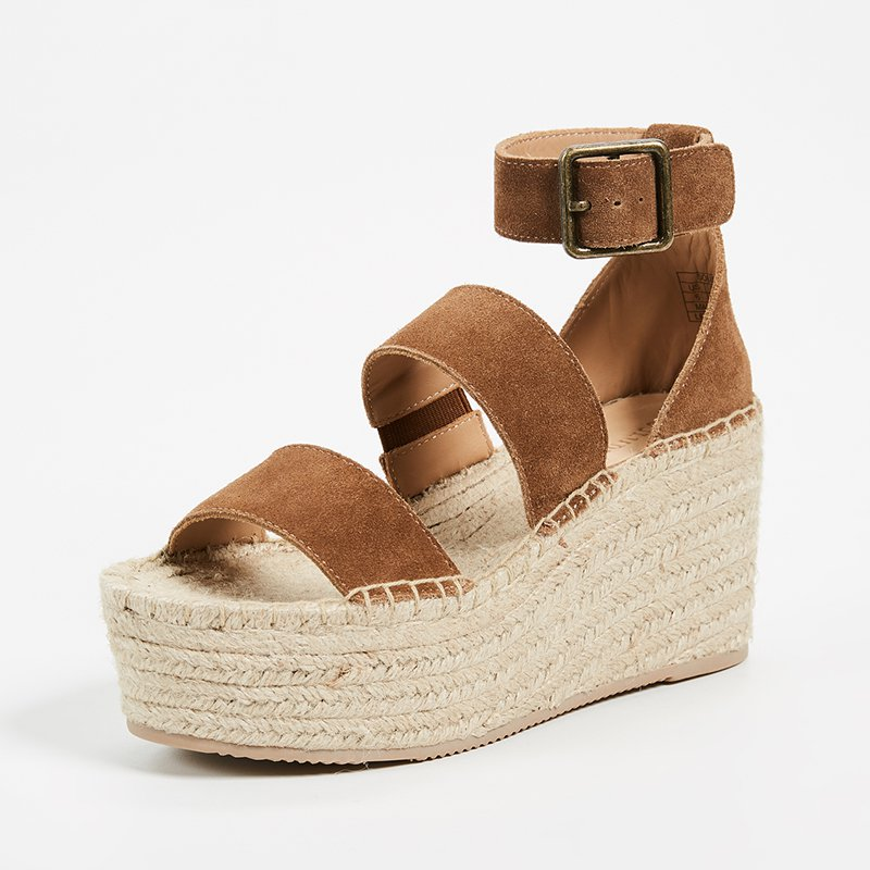 Casual Wedge Sandals Adjustable Ankle Strap Beach Shoes