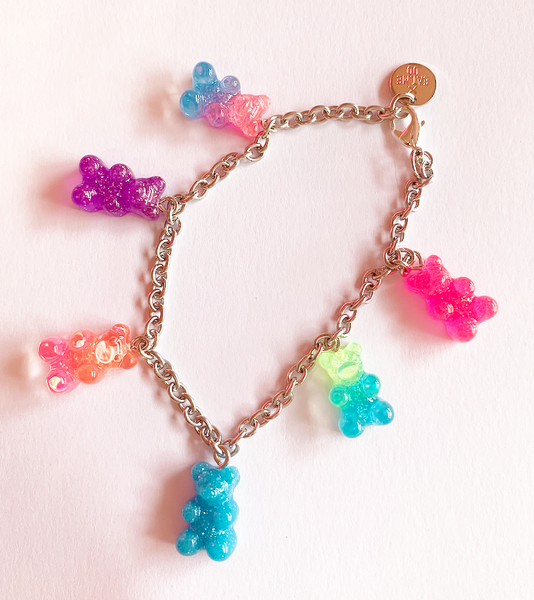 90's Gummy Bear Charm Bracelet - NEW!
