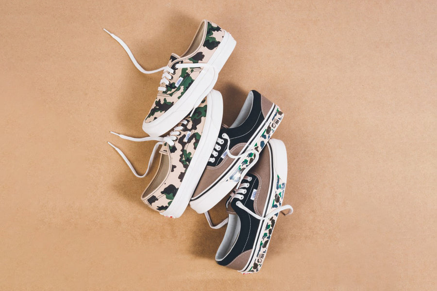 "Vans Authentic 44 DX (Anaheim Factory) ""OG Camo"" and Vans Era 95 DX (Anaheim Factory) ""Camo Tape"""