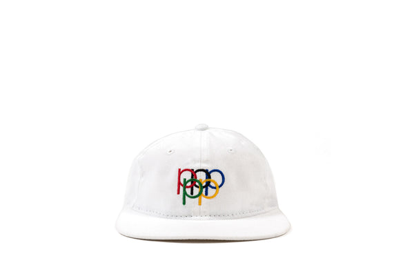 "PACKER ""P RINGS"" UNSTRUCTURED CAP - WHITE"