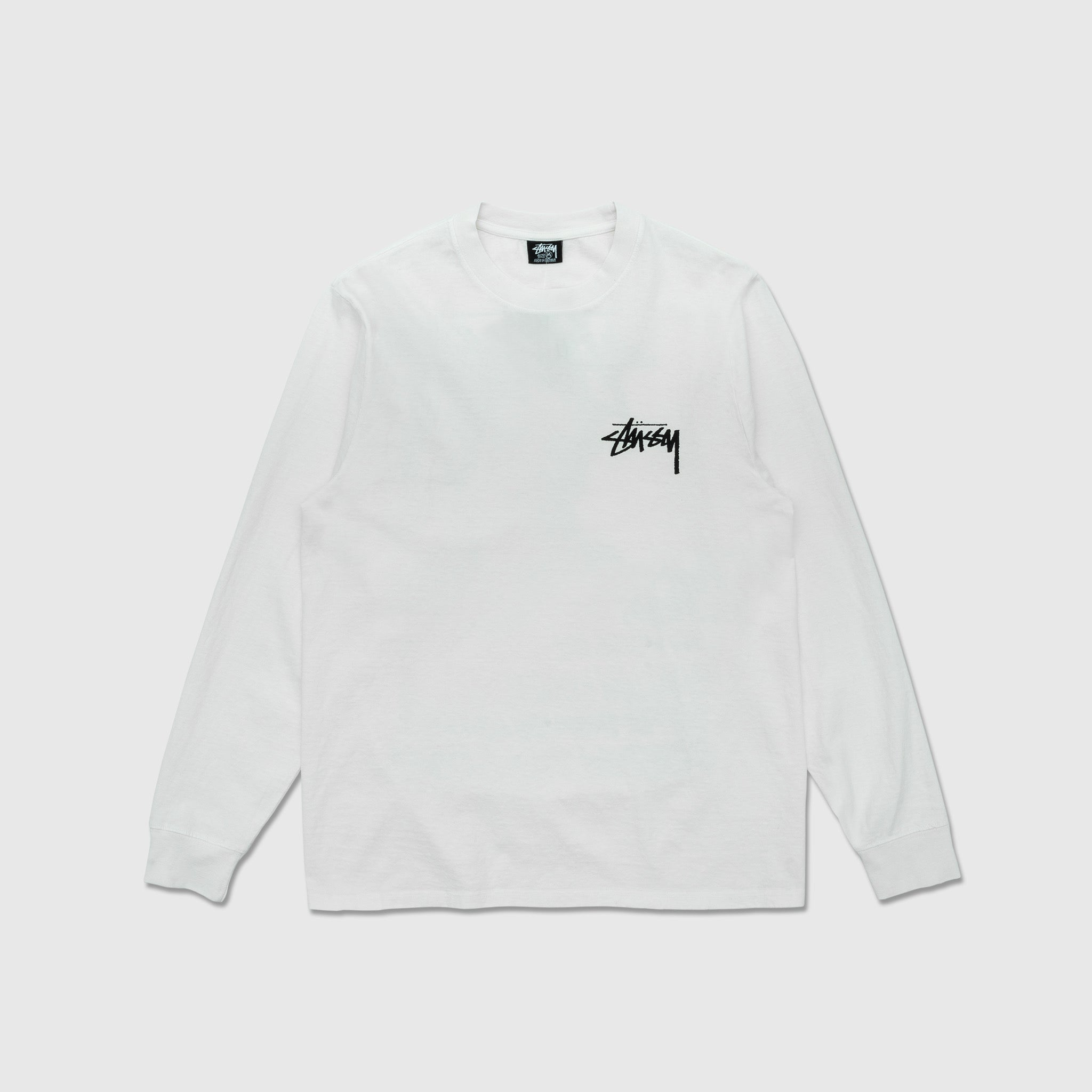 STUSSY SPRING WEEDS PIGMENT DYED L/S T-SHIRT