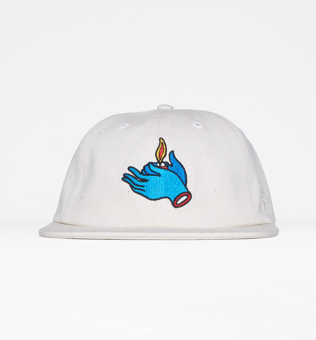 PARRA 6 PANEL FLAME HOLDER HAT - OFF WHITE
