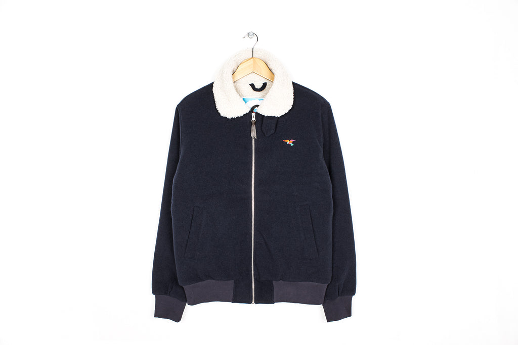 PARRA HARLEY WOOL JACKET - NAVY BLUE