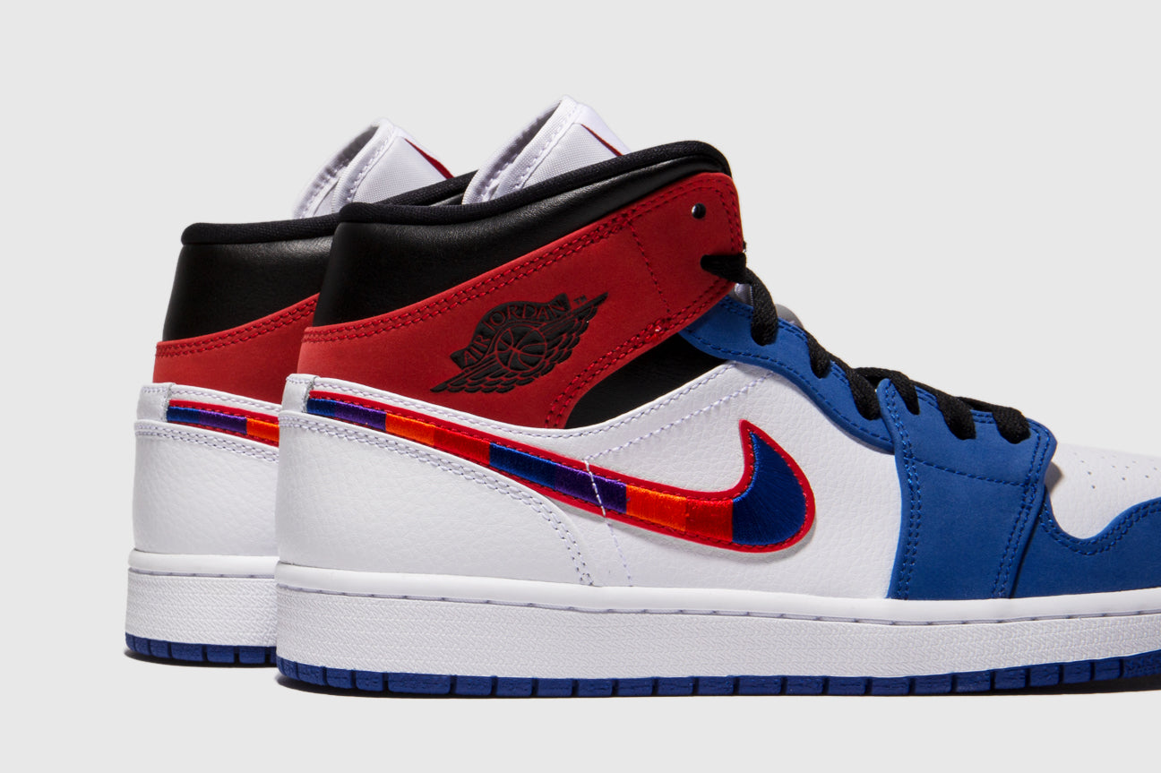 "AIR JORDAN 1 MID SE ""MULTICOLORED SWOOSH"""