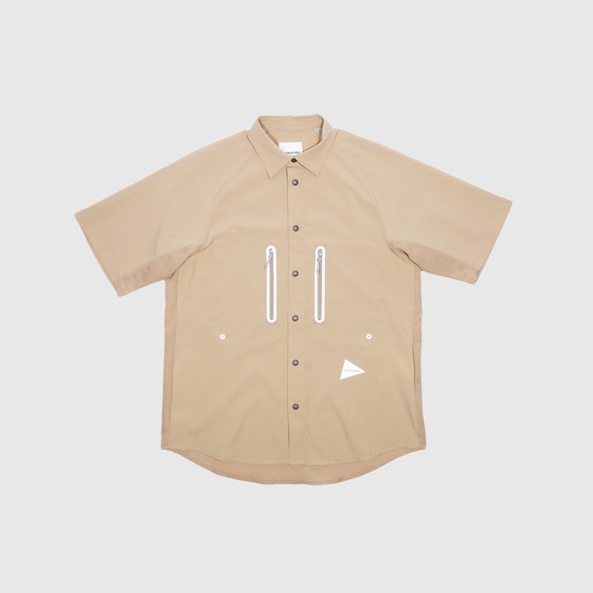 AND WANDER ZIP POCKET TECHNICAL SHIRT