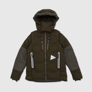 AND WANDER HEATHER RIPSTOP DOWN JACKET
